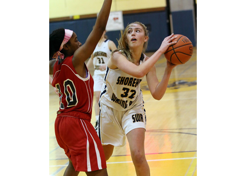 Shoreham-Wading River basketball player Lydia Kessel 011416