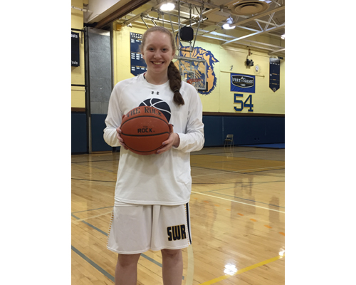 Shoreham-Wading River basketball player Mackenzie Zajac