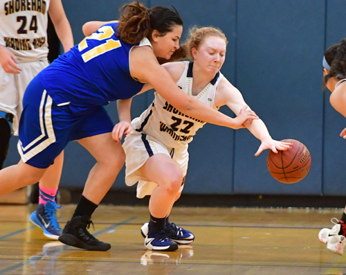 Shoreham-Wading River basketball player Mackenzie Zajac 021817