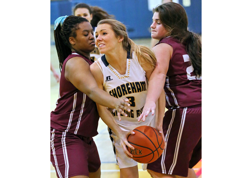 Shoreham-Wading River basketball player Maria Smith 012816