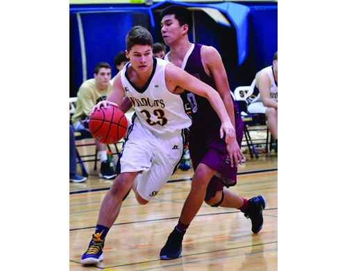 Shoreham-Wading River basketball player Matt Moran 012317