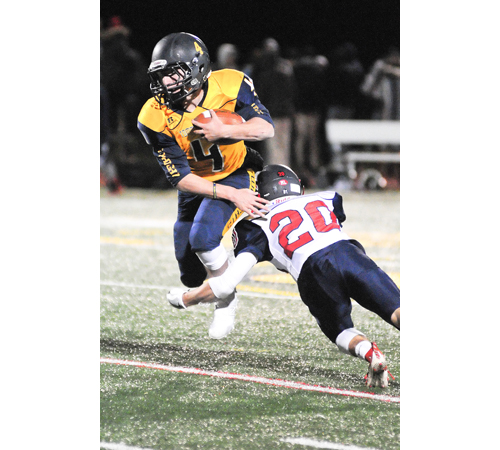 Shoreham-Wading River football player Chris Gray 111416