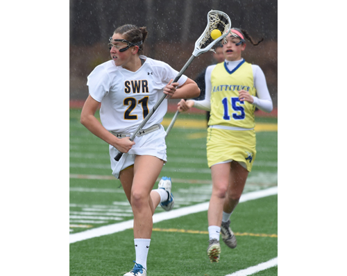 Shoreham-Wading River lacrosse player Erin Triandafils 040216