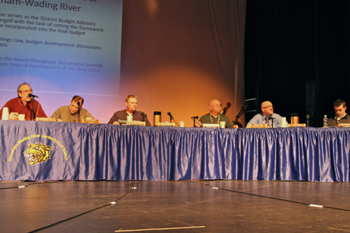 The Shoreham-Wading River school board will hold its regular meeting Tuesday night. (Credit: Jennifer Gustavson, file)