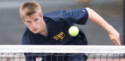 Shoreham-Wading River junior Chris Kuhnle (20-0), who hasn't been pushed to three sets this season, won the Division IV singles championship. (Credit: Katharine Schroeder)