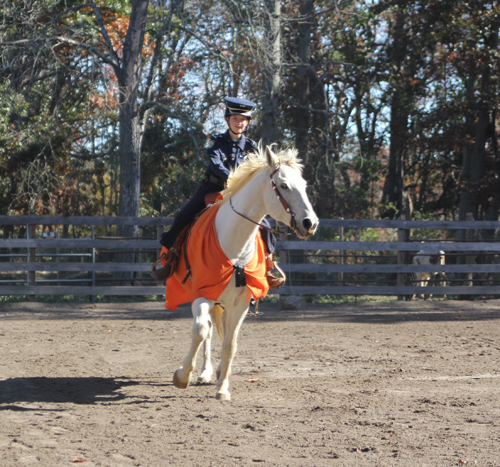 JENNIFER GUSTAVSON PHOTO | Sarah McCombe riding Malvin at Sleepy Hollow Cattle Ranch in Riverhead.