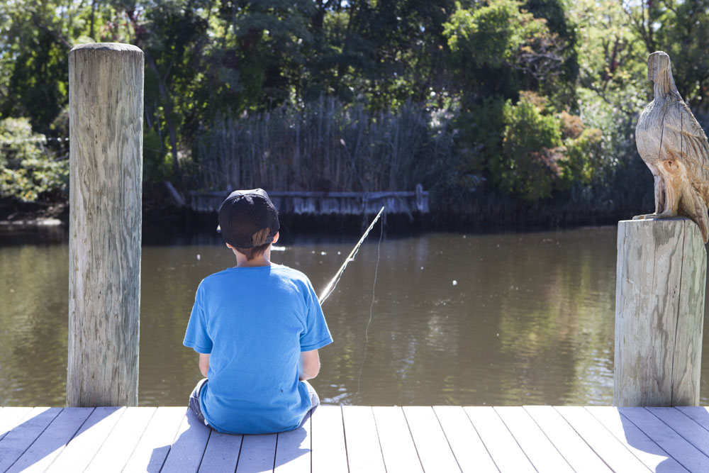 Zachary Rushlo, 14, of East Quogue patiently waits to hook a snapper