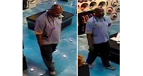 Police say this man bought $1,000 worth of sneakers with a stolen credit card.