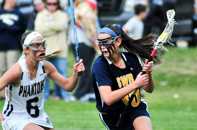 Shoreham-Wading River sophomore Sophia Triandafils led the Wildcats with four goals in Wednesday's Class C playoff game. (Credit: Bill Landon)
