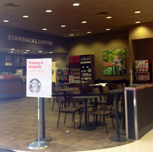 Starbucks opening soon at Target