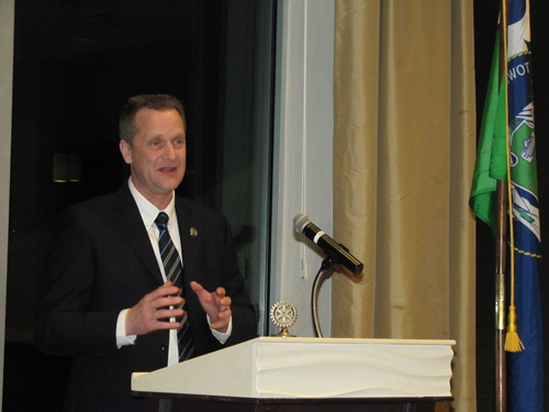 Supervisor Sean Walter at Tuesday night's State of the Town address.