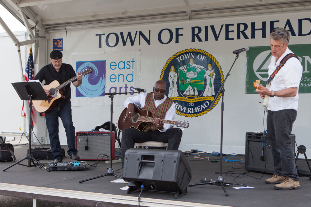The Rhythm Kings play for festival attendees.
