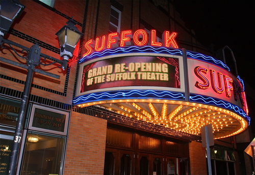 BARBARAELLEN KOCH PHOTO | The Suffolk Theater hosted an invitation-only event to thank the people who helped out with the renovation.
