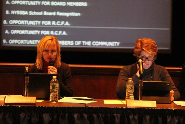 Susan Koukounas and Amelia Lantz