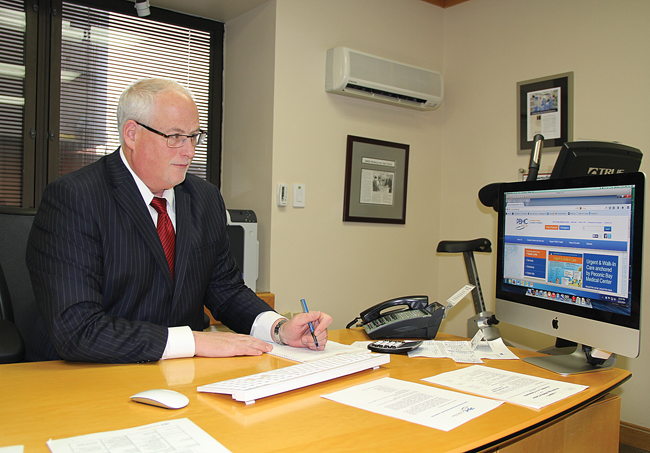 Peconic Bay Medical Center CEO Andy Mitchell. (Credit: Carrie Miller)