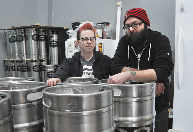 Lauri and Matt Spitz, co-owners of Moustache Brewing Company. (Credit: Rachel Young, file)