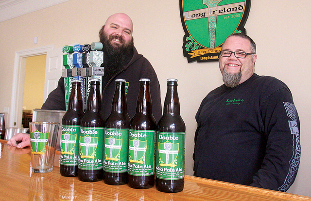 Long Ireland Beer Company owners Dan Burke (left) and Greg Martin. (Credit: Barbaraellen Koch)