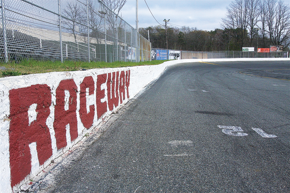 Riverhead Raceway is one of the oldest stock car race tracks in the country, having been built in 1949. It is a one-quarter mile asphalt, high-banked oval which includes a Figure 8 course. (Credit: Barbaraellen Koch)