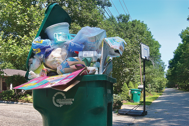 Garbage on Oak Avenue in Flanders. (Credit: barbaraellen Koch)