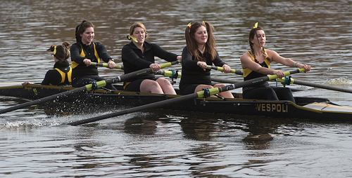 St. Anthony's High School rowers during the annual Snowflake Regatta, which this year made national headlines for all the wrong reasons. (Credit: Robert O'Rourk)