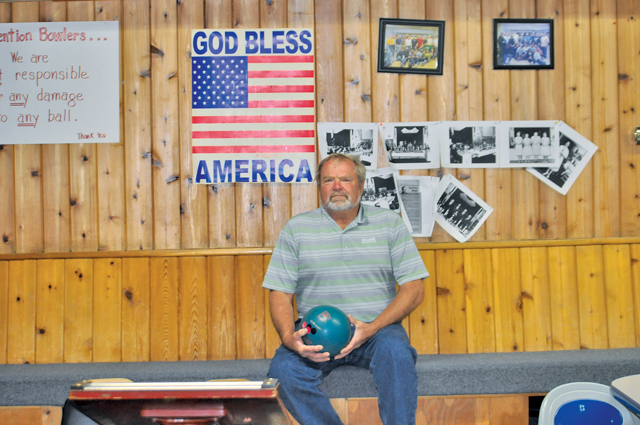 Pete Victoria has been bowling at Riverhead's Polish Hall for the past decade. It is believed that on Monday night he bowled the first-ever perfect 300 game at the historic basement lanes. (Credit: Grant Parpan)