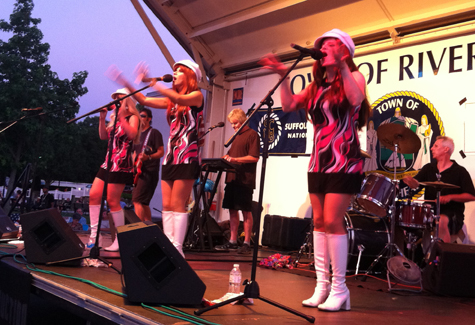The Party Dolls take the stage as the sun sets behind Grangebel Park to the west at a 2011 Townscape concert. (Credit: James Tuthill, file)
