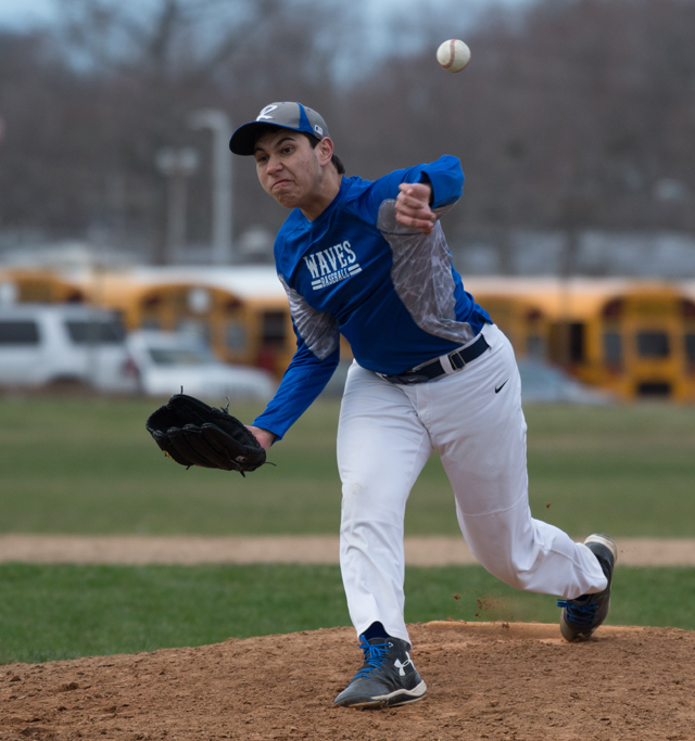 Riverhead sophomore pitcher Scott Thompson will join the starting rotation this year. (Credit: Robert O'Rourk)