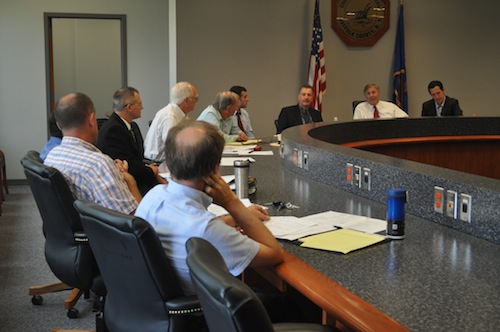Tick committee members meeting in Riverside at its first meeting in July. (Credit: Cyndi Murray)