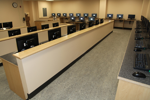 A new computer lab.