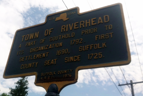 Town of Riverhead sign