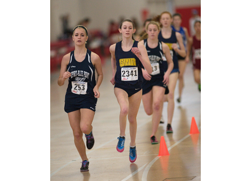 GARRET MEADE PHOTO  |  Shoreham-Wading River freshman Kaitlyn Ohrtman won the 3,000 and 1,500.