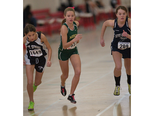 GARRET MEADE PHOTO  |  McGann-Mercy freshman Meg Tuthill was second in the 1,000.