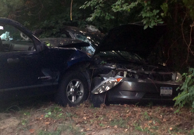 Two car crash Baiting Hollow Scout Camp