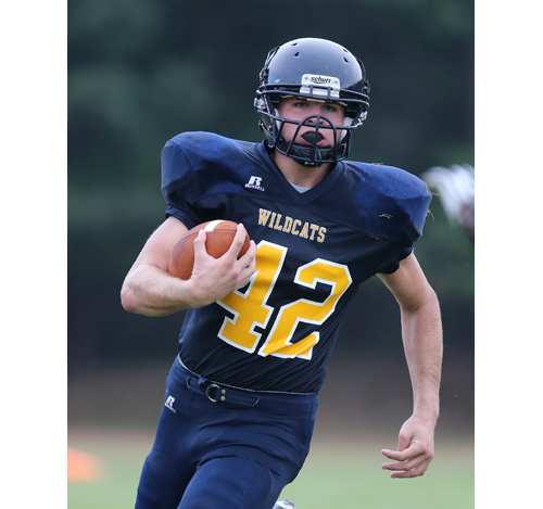 DANIEL DE MATO PHOTO  |  Shoreham-Wading River senior Tyler Anderson scored two touchdowns Thursday against McGann-Mercy.
