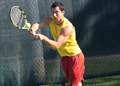 GARRET MEADE FILE PHOTO | Chris Ujkic won his third straight men's singles titleat last year's Bob Wall Tennis Tournament.
