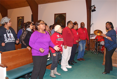 First Baptist Church of Riverhead's choir. (Credit Barbaraellen Koch)
