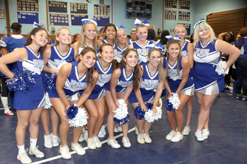 COURTESY PHOTO  |  The Riverhead varsity cheerleading team is competing in nationals
