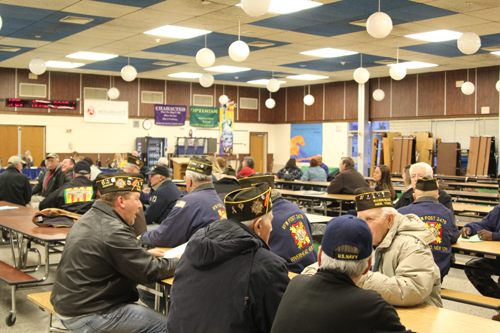 Close to 40 people, including many local veterans, came out in support of a measure to allow tax breaks for veterans in Riverhead School Districts. (Credit: Jen Gustavson)