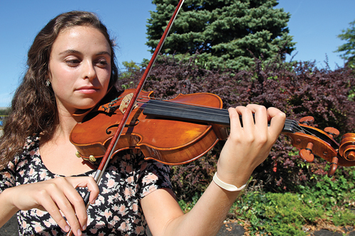 Amy Methven, a senior at RHS, was one of 100 high school students selected nationwide to perform in a prestigious orchestra next month in Nashville. (Credit: Carrie Miller)
