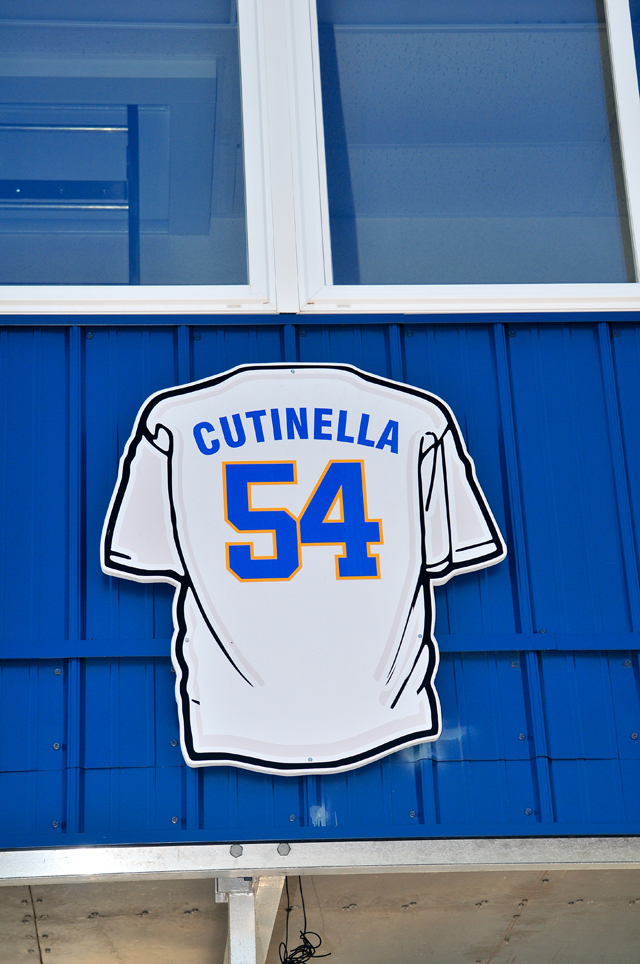 Thomas Cutinella, who died following an injury suffered in a football game in 2014, had his name called among the graduates of his class Saturday. (Credit: Bill Landon)