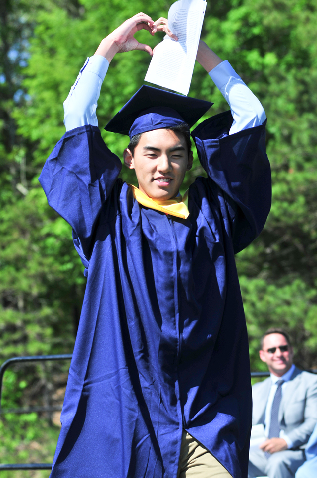 Valedictorian Kelvin Ma. (Credit: Bill Landon)