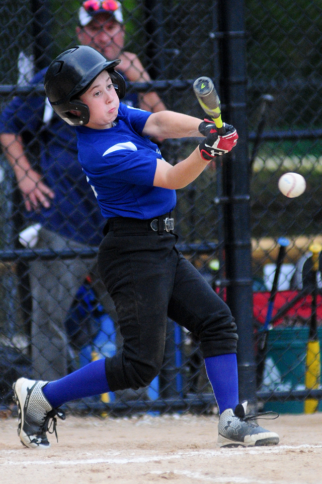 Mike Mowdy at the plate for Riverhead. (Credit: Bill Landon)