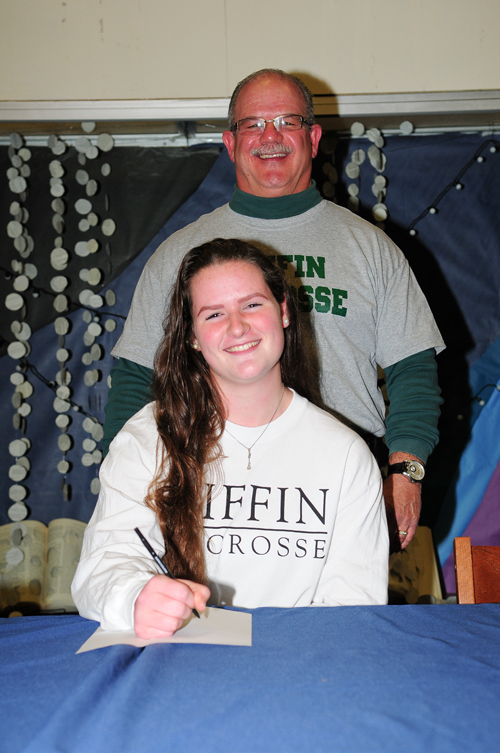 Rebecca Nolan will play lacrosse at Tiffin University. (Credit: Bill Landon)