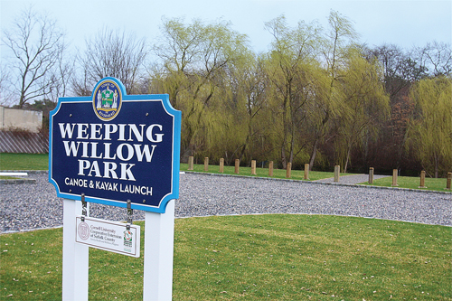 The Weeping Willow Park on West Main Street was purchased with CPF money. BARBARAELLEN KOCH PHOTO  |