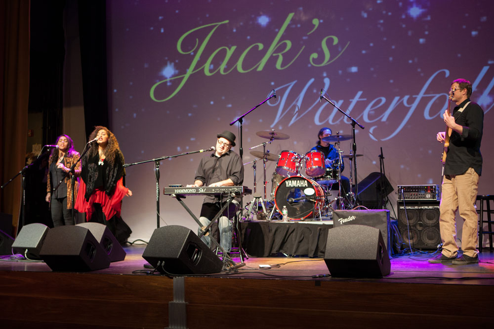 Jack's Waterfall performs Friday night at The Suffolk Theater. (Credit: Katharine Schroeder)