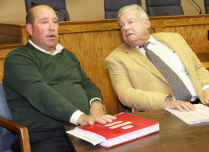 Councilmen Jim Wooten (left) and John Dunleavy in 2011.