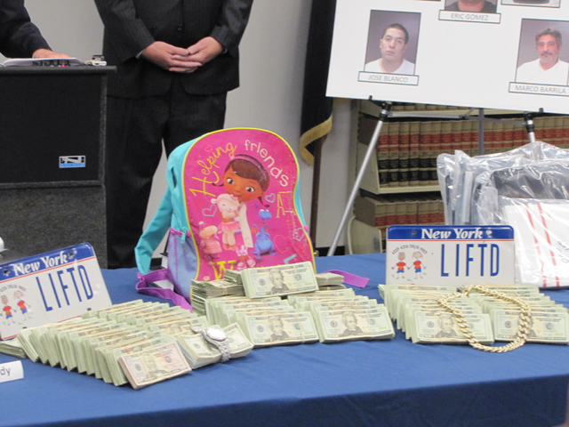 A backpack discovered by police had been filled with money. (Credit: Tim Gannon)