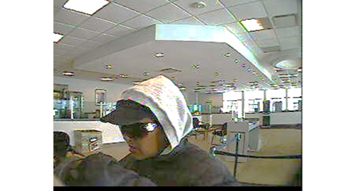 The woman who allegedly robbed the bank Thursday. (Credit: Riverhead police)