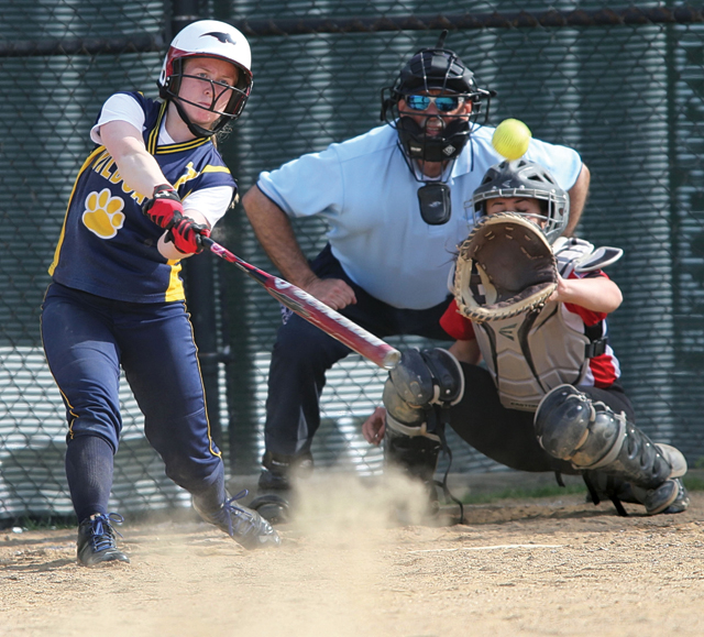 Shoreham-Wading River senior Caitlin Mirabell returns to anchor the Wildcats' lineup and play center field. (Credit: Garret Meade, file)