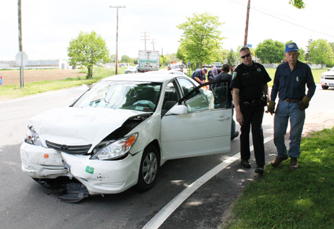 PAUL SQUIRE PHOTO   One of two Toyota Camrys involved in Thursday's crash.